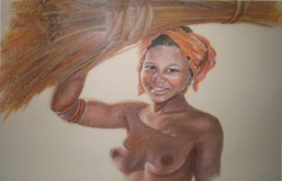 Zulu girl in South Africa